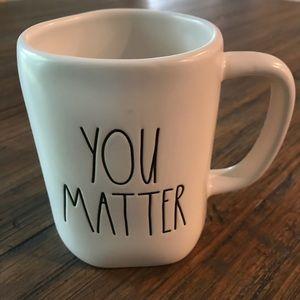 "Rae Dunn ""You Matter"" ceramic coffee mug"